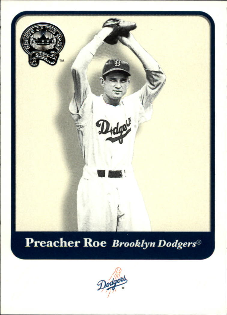 2001 Greats of the Game #72 Preacher Roe