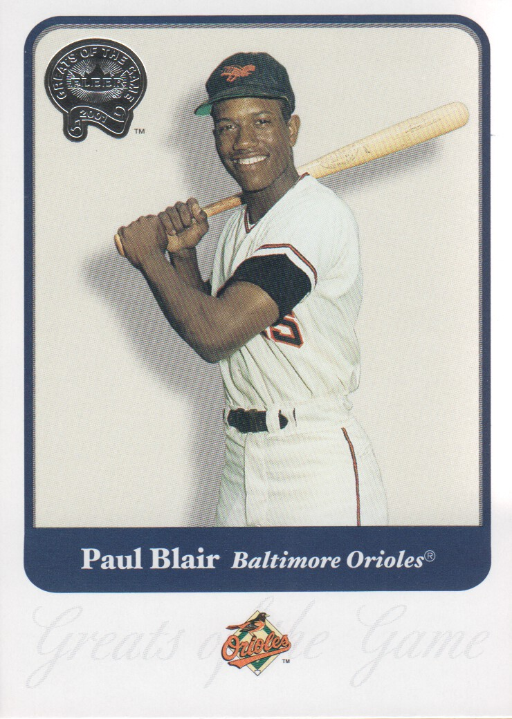 2001 Greats of the Game #78 Paul Blair
