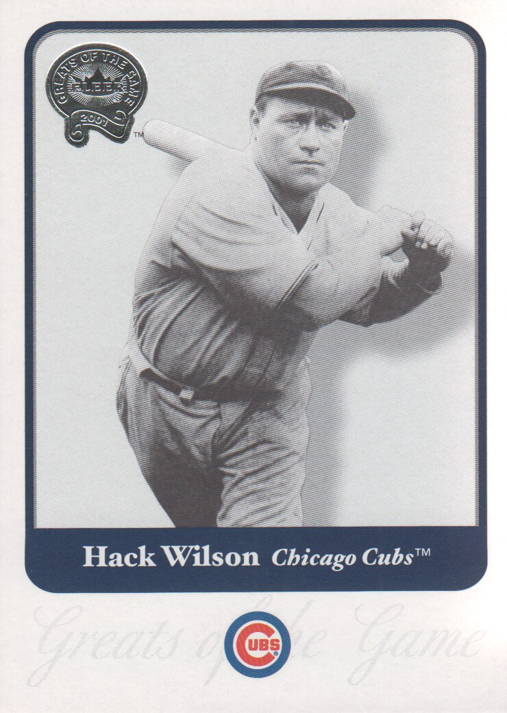 2001 Greats of the Game #82 Hack Wilson