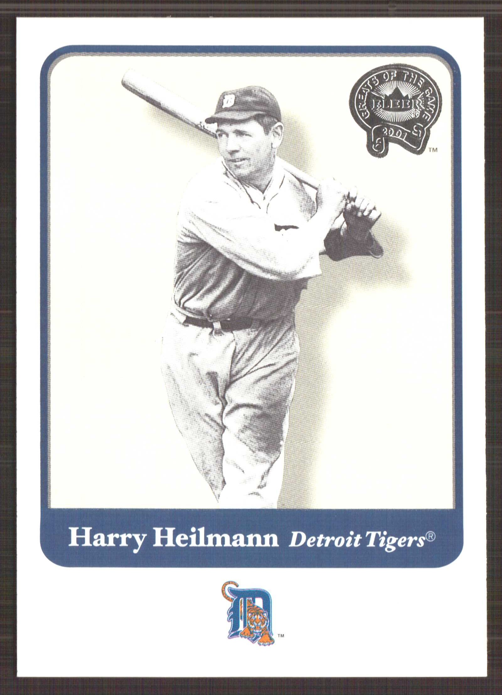 2001 Greats of the Game #84 Harry Heilmann