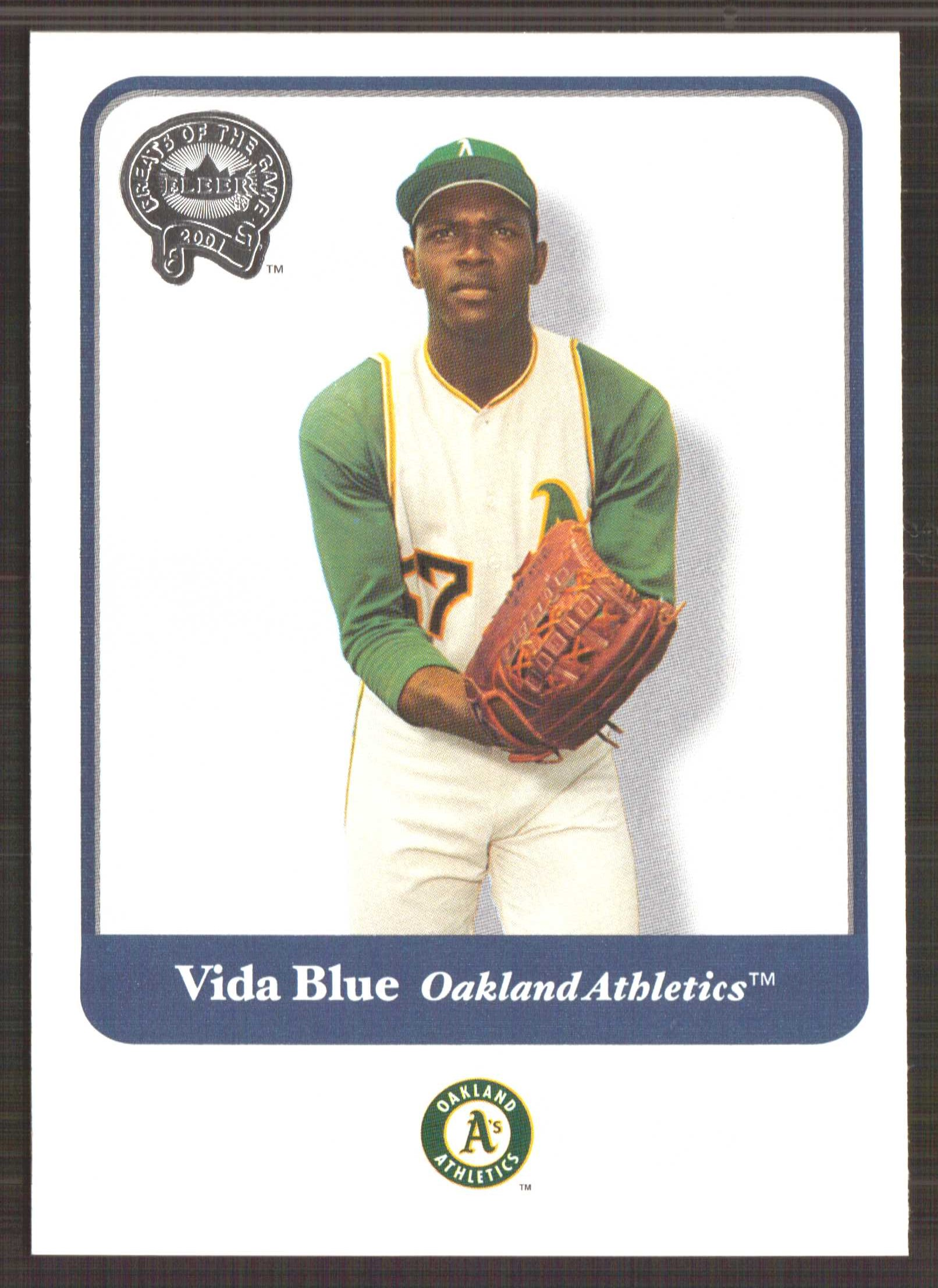 2001 Greats of the Game #86 Vida Blue front image