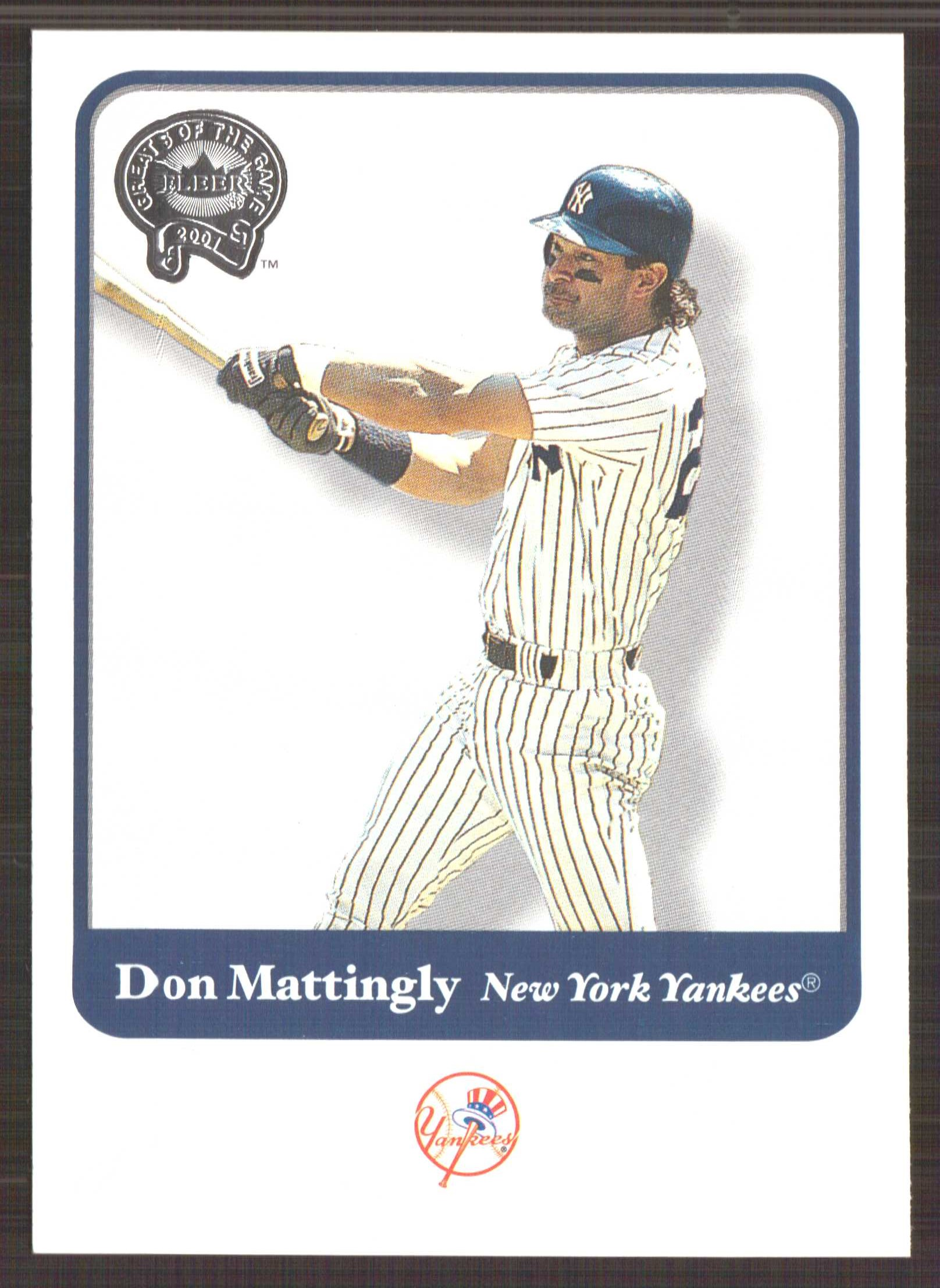 2001 Greats of the Game #91 Don Mattingly
