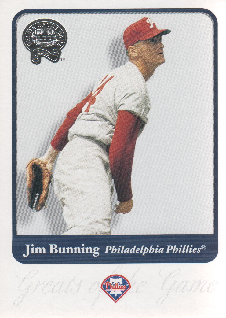 2001 Greats of the Game #92 Jim Bunning front image