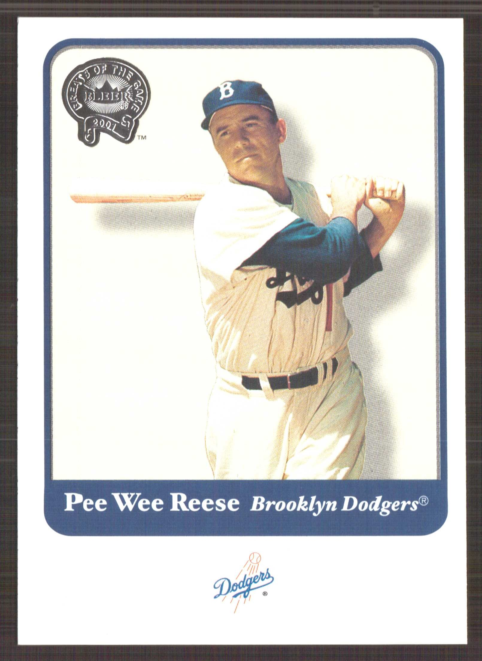 2001 Greats of the Game #95 Pee Wee Reese front image