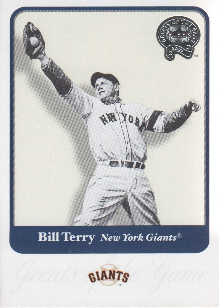 2001 Greats of the Game #100 Bill Terry
