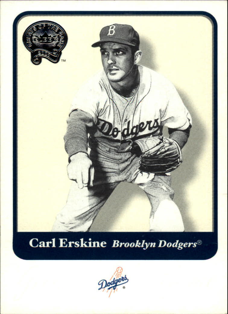 2001 Greats of the Game #106 Carl Erskine