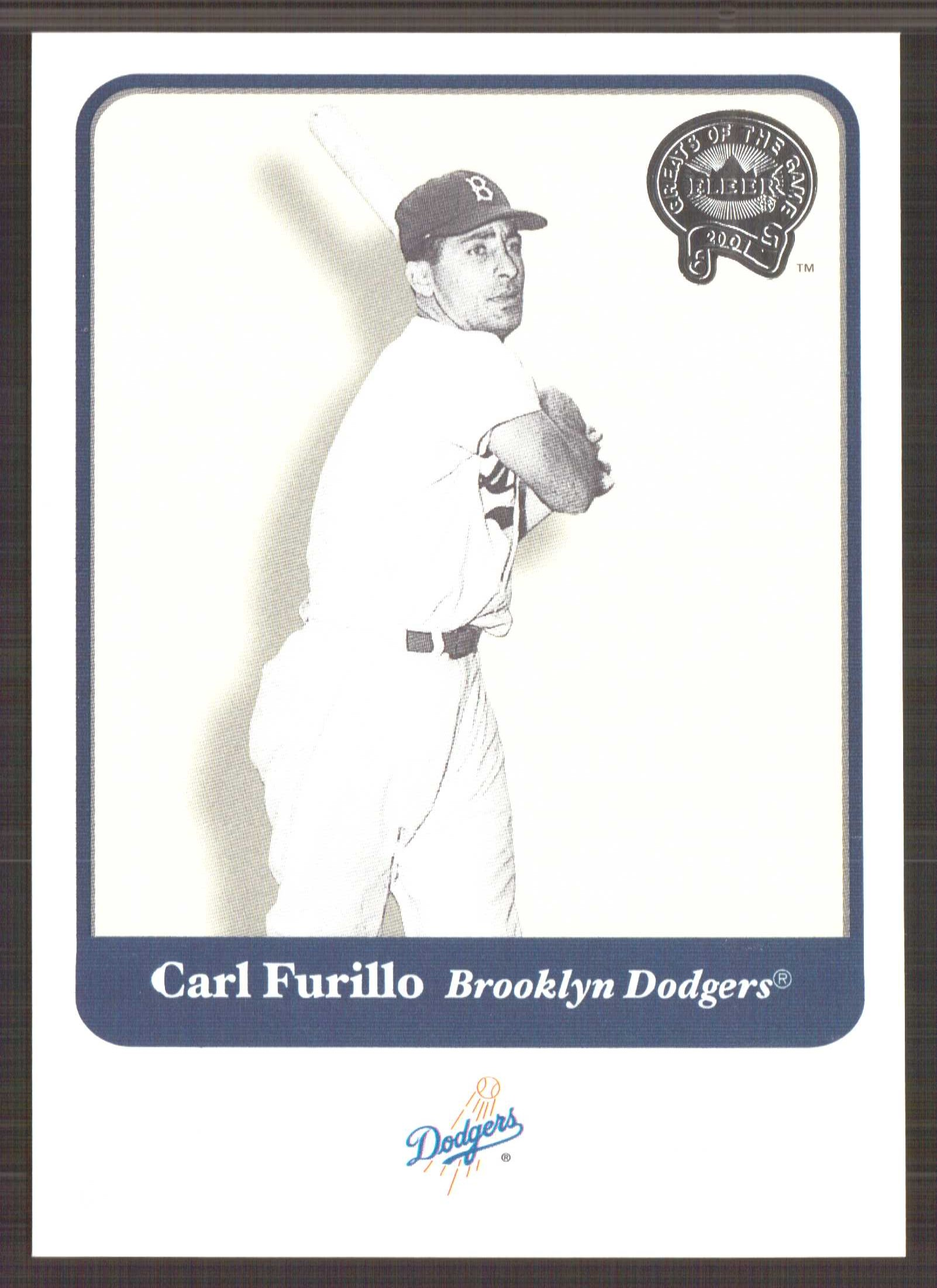 2001 Greats of the Game #108 Carl Furillo