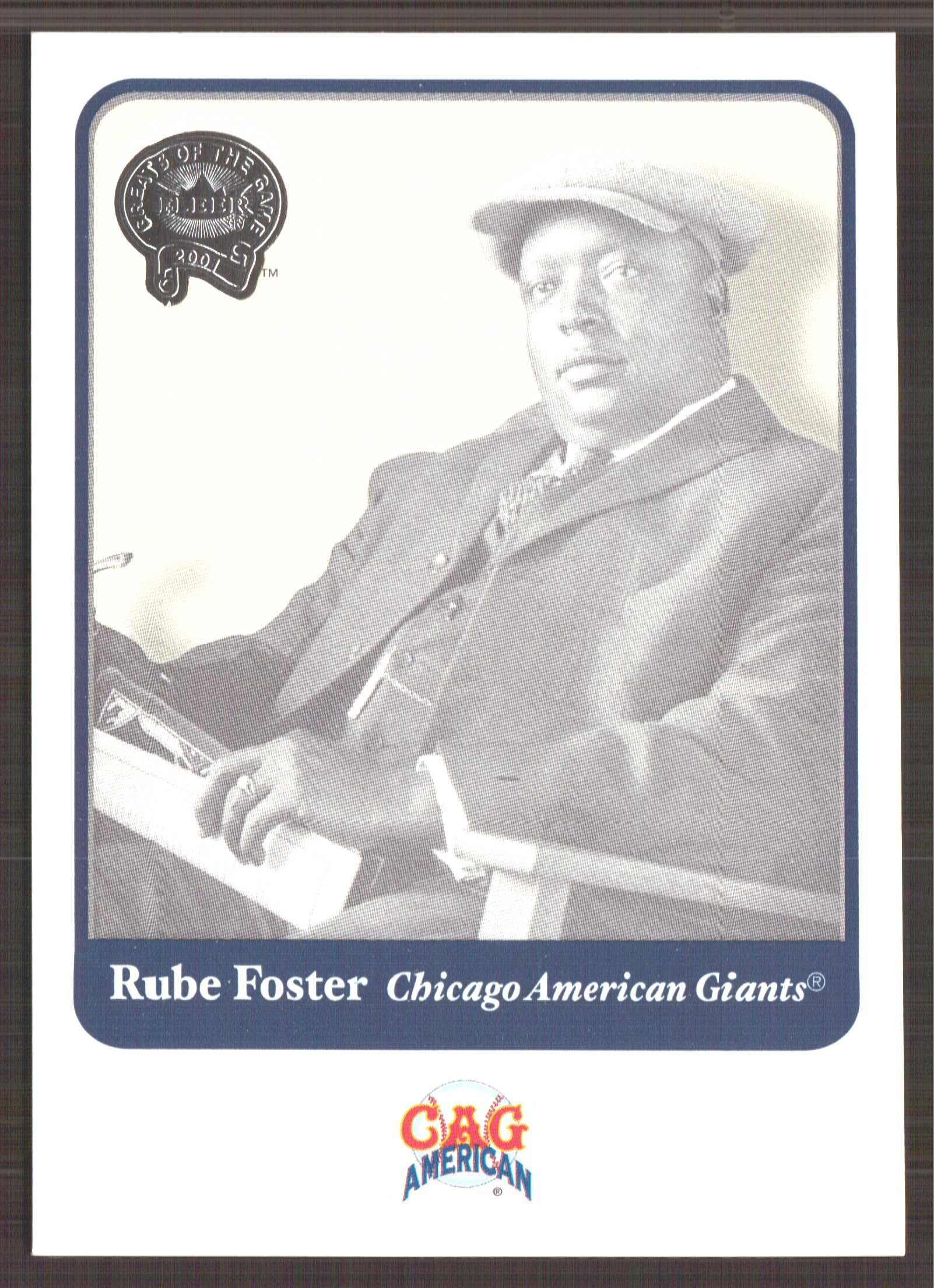 2001 Greats of the Game #111 Rube Foster
