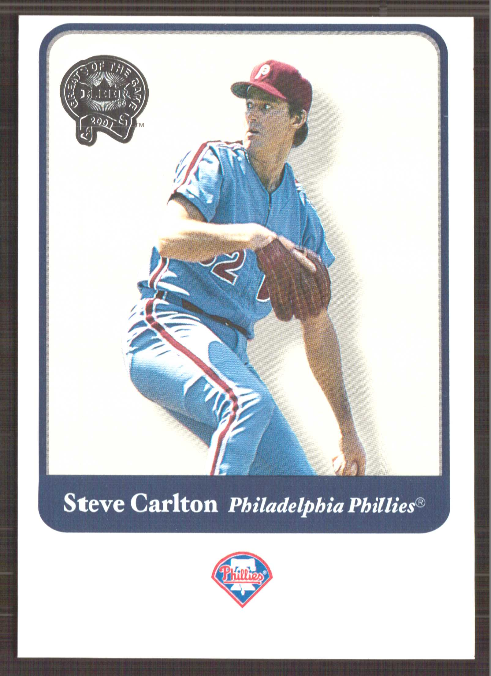 2001 Greats of the Game #125 Steve Carlton front image