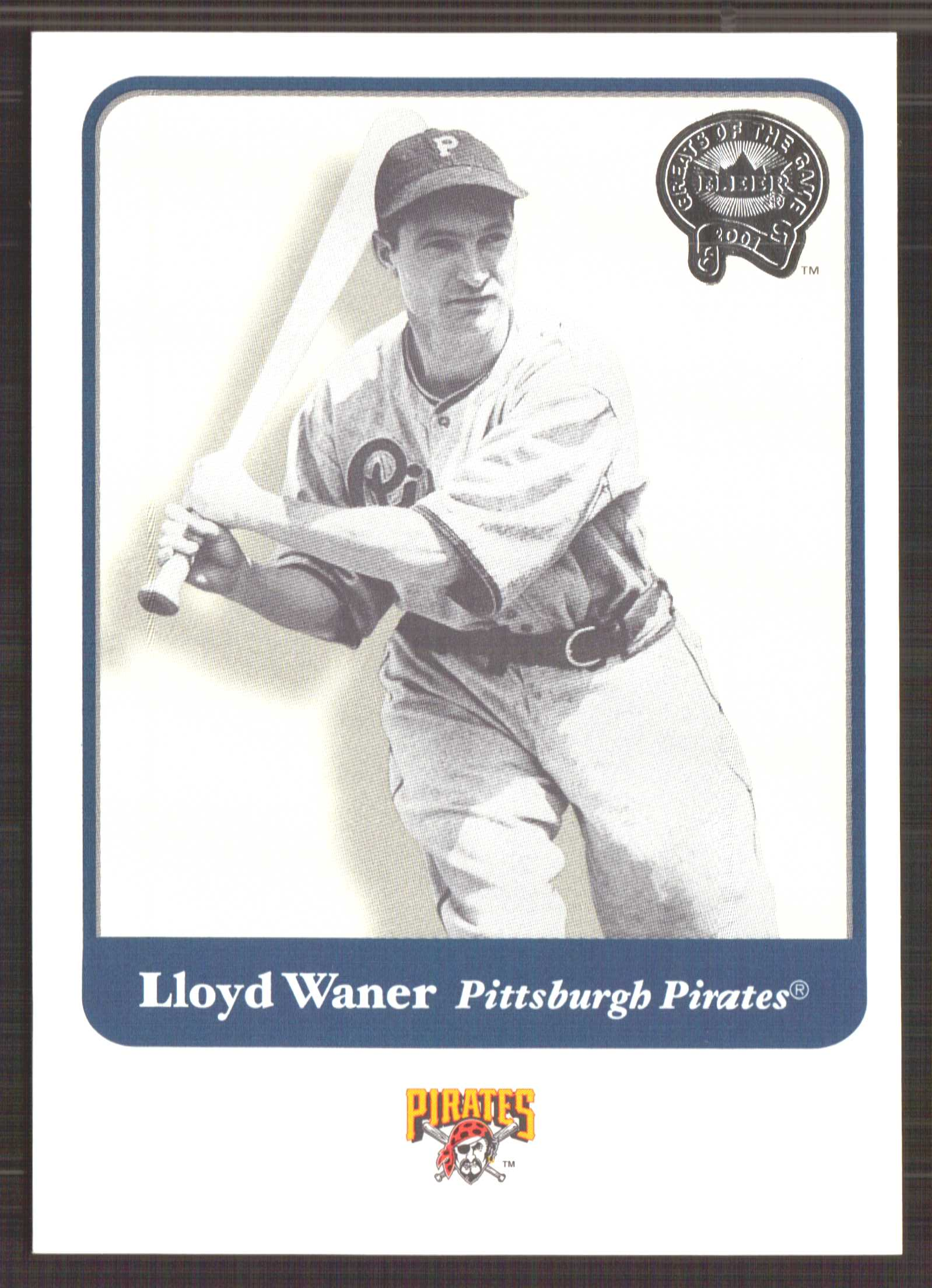 2001 Greats of the Game #129 Lloyd Waner front image