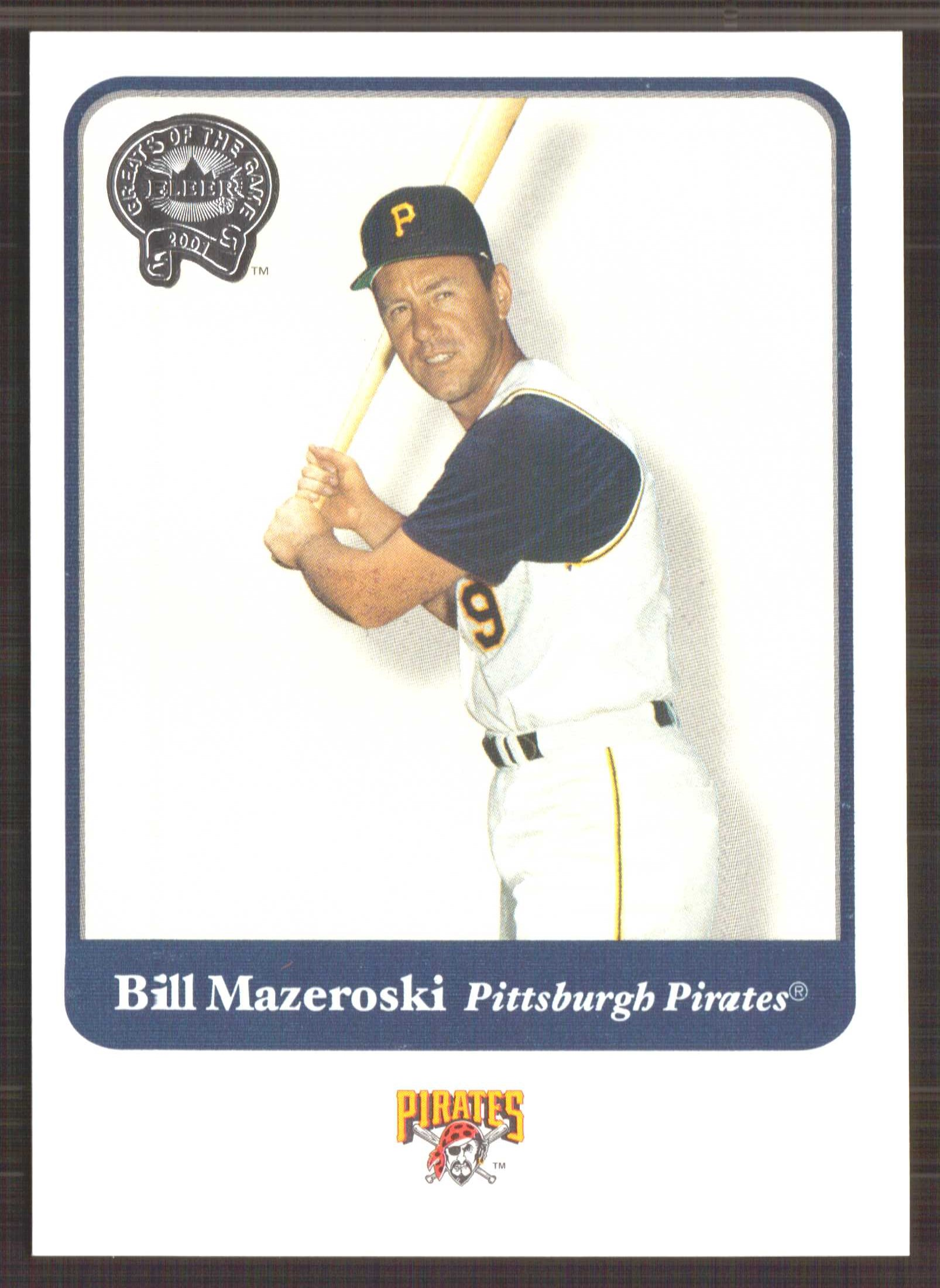 2001 Greats of the Game #132 Bill Mazeroski front image