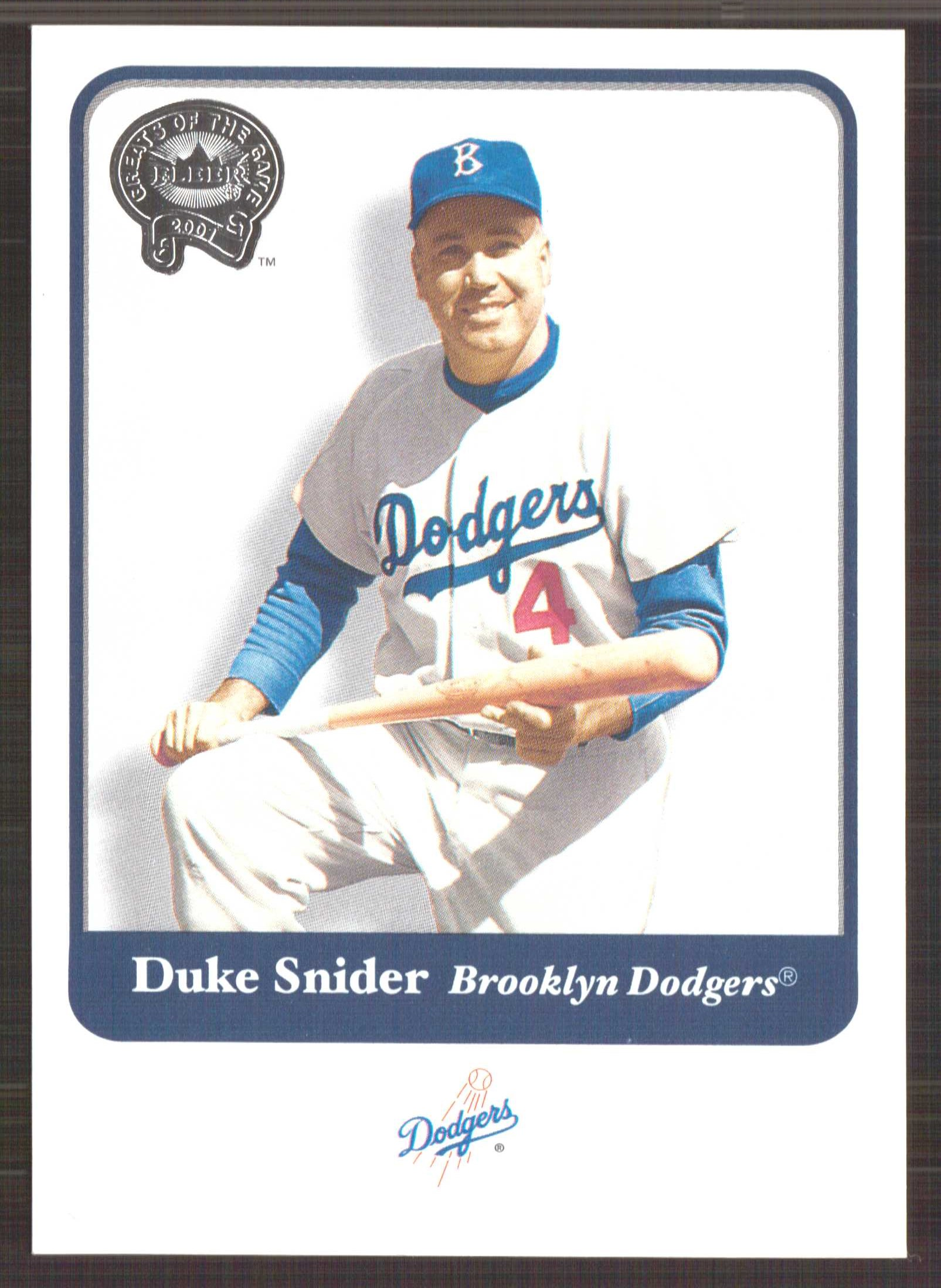 2001 Greats of the Game #133 Duke Snider front image