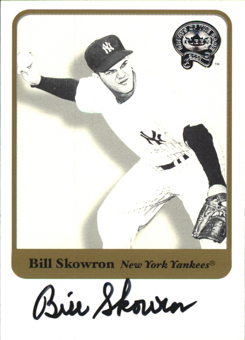 2001 Greats of the Game Autographs #79 Bill Skowron