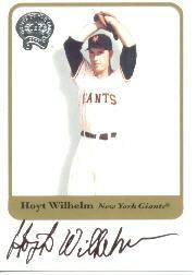 2001 Greats of the Game Autographs #88 Hoyt Wilhelm