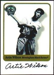 2001 Greats of the Game Autographs #91 Artie Wilson