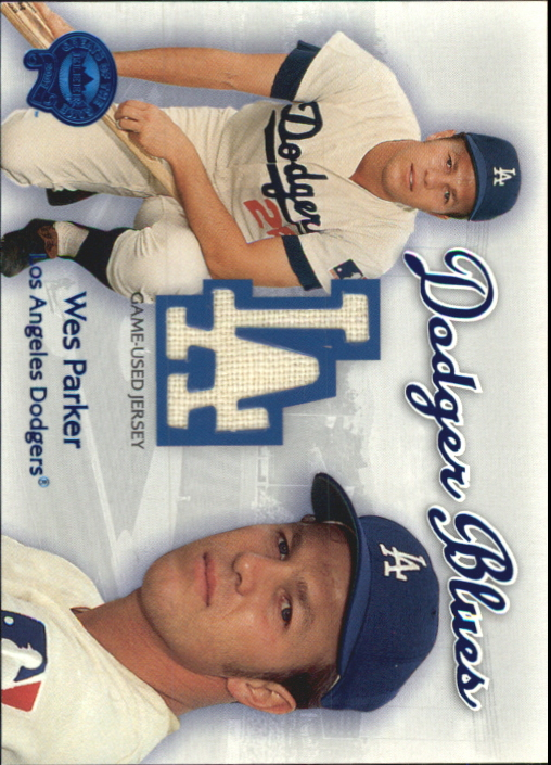 2001 Greats of the Game Dodger Blues #10 Wes Parker Jsy