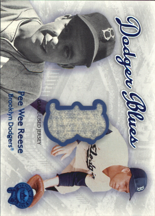 2001 Greats of the Game Dodger Blues #11 Pee Wee Reese Jsy