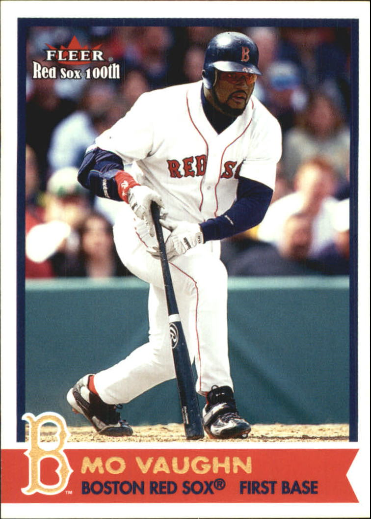 2001 Fleer Red Sox 100th #30 Mo Vaughn