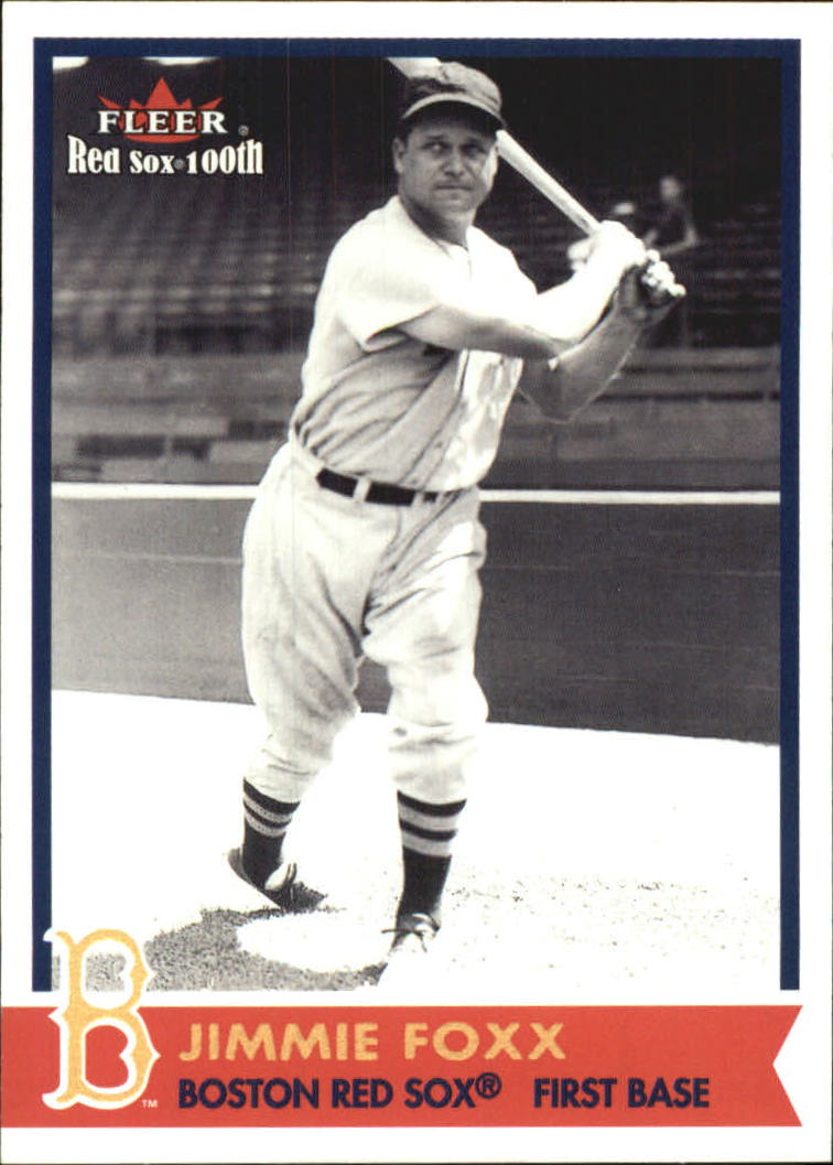 2001 Fleer Red Sox 100th #44 Jimmie Foxx