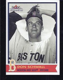 2001 Fleer Red Sox 100th #62 Don Schwall