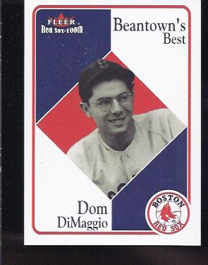 2001 Fleer Red Sox 100th #80 Dom DiMaggio BB