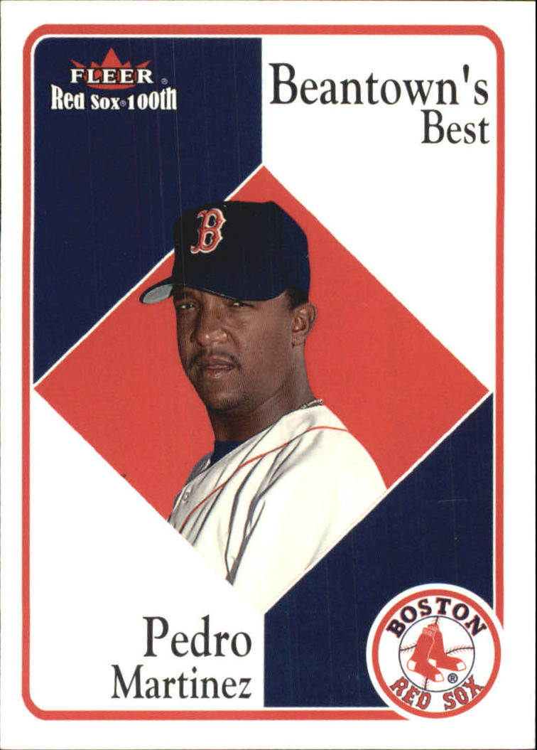 2001 Fleer Red Sox 100th #83 Pedro Martinez BB