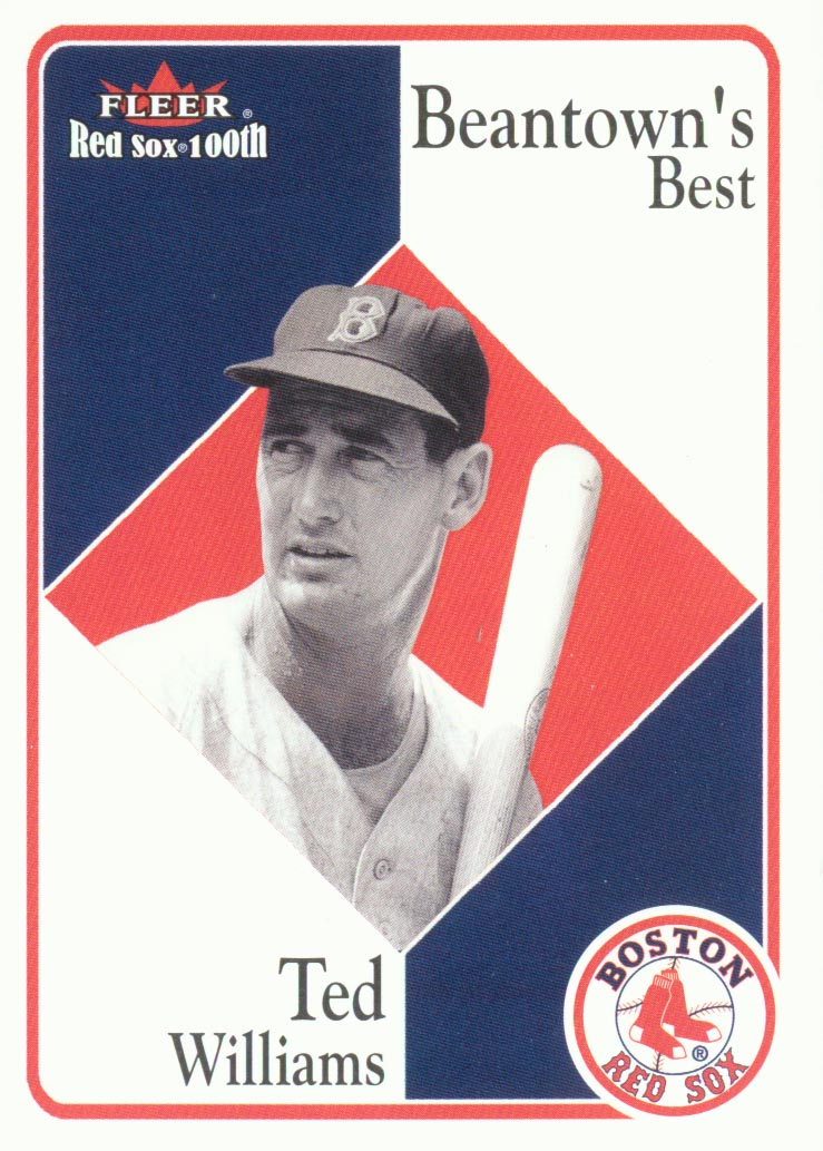 2001 Fleer Red Sox 100th #84 Ted Williams BB front image