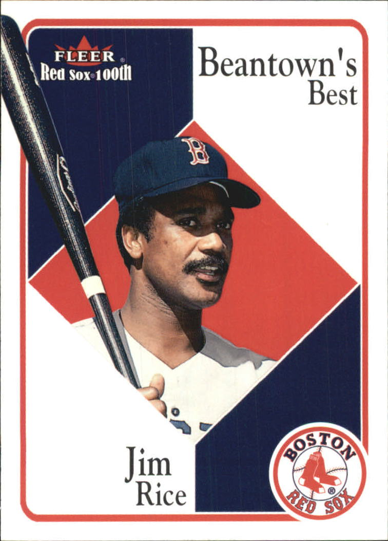 2001 Fleer Red Sox 100th #85 Jim Rice BB