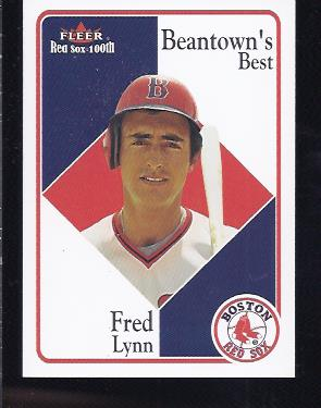 2001 Fleer Red Sox 100th #86 Fred Lynn BB