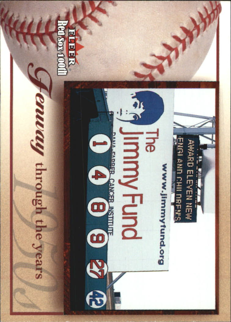 2001 Fleer Red Sox 100th #93 Fenway Park