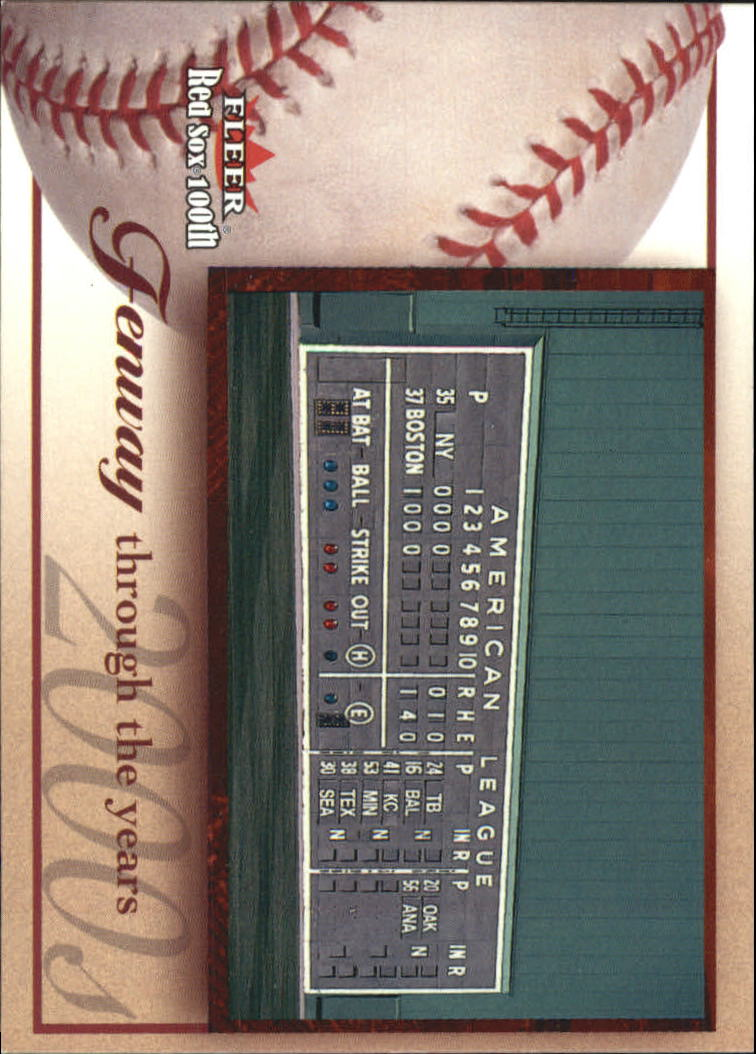 2001 Fleer Red Sox 100th #97 Fenway Park