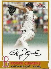 2001 Fleer Red Sox 100th BoSox Sigs #4 Roger Clemens SP/100