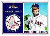 2001 Fleer Red Sox 100th Threads #2 Roger Clemens
