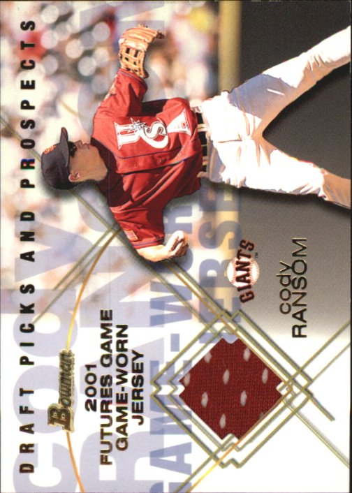 2001 Bowman Draft Futures Game Relics #FGRCD Cody Ransom