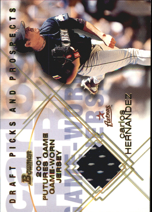 2001 Bowman Draft Futures Game Relics #FGRCH Carlos Hernandez