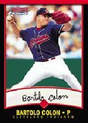 2001 Bowman Chrome #43 Bartolo Colon front image