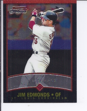 2001 Bowman Chrome #52 Jim Edmonds