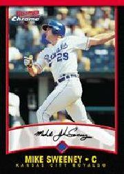 2001 Bowman Chrome #55 Mike Sweeney