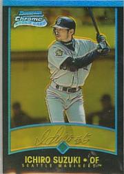 2001 Bowman Chrome Gold Refractors #NNOA Ichiro English/50