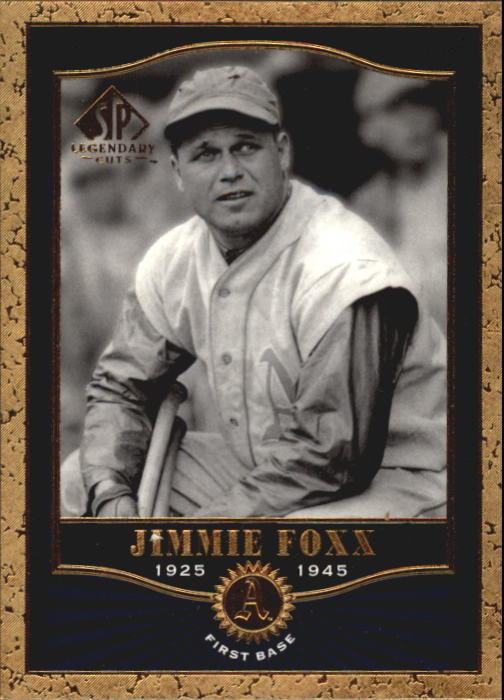 2001 SP Legendary Cuts #2 Jimmie Foxx