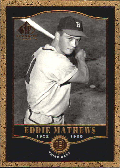 2001 SP Legendary Cuts #5 Eddie Mathews