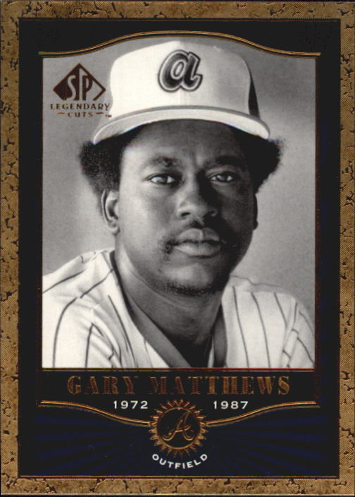 2001 SP Legendary Cuts #6 Gary Matthews