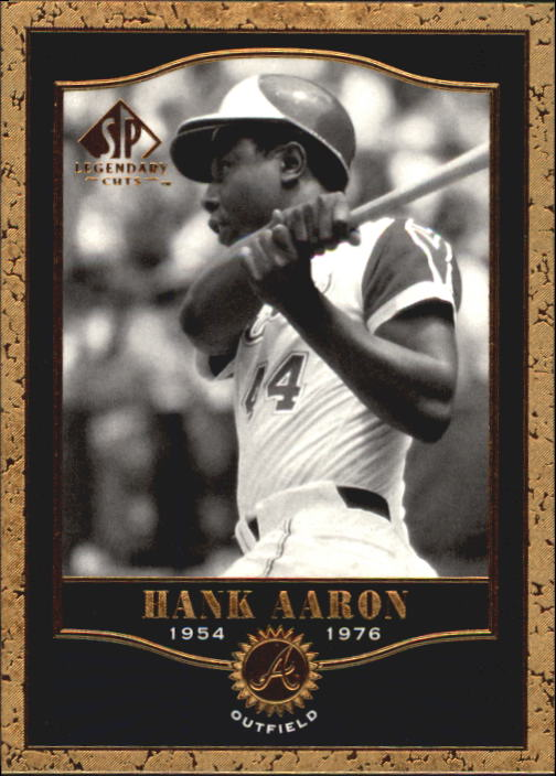 2001 SP Legendary Cuts #7 Hank Aaron front image