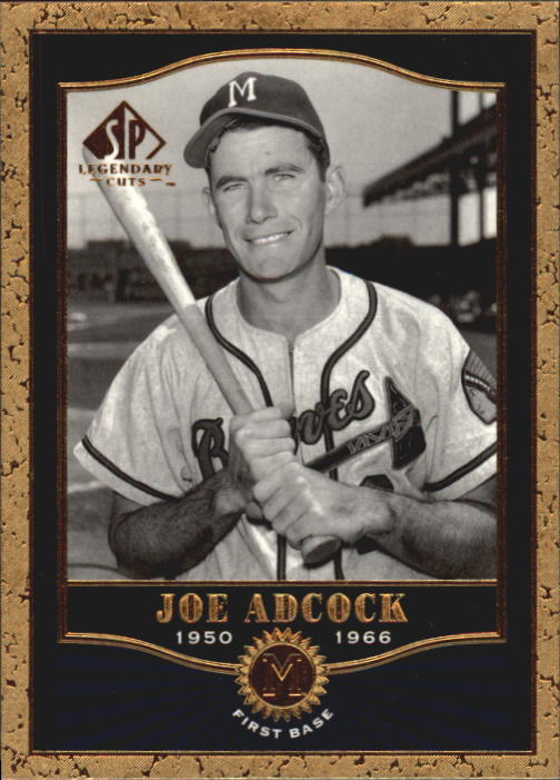 2001 SP Legendary Cuts #8 Joe Adcock