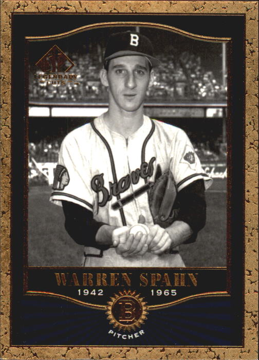 2001 SP Legendary Cuts #9 Warren Spahn