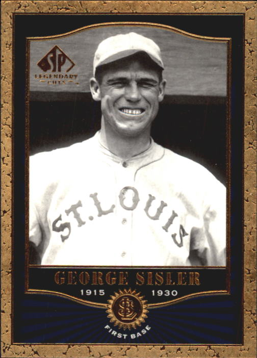 2001 SP Legendary Cuts #10 George Sisler