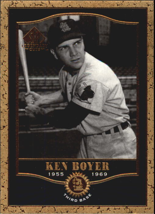 2001 SP Legendary Cuts #16 Ken Boyer