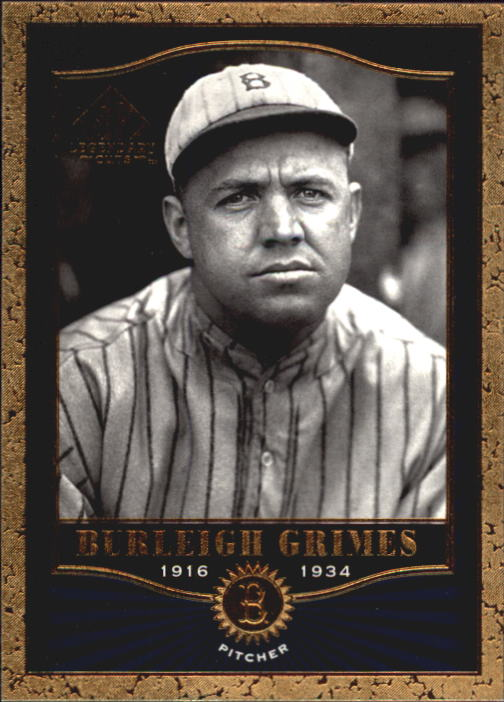 2001 SP Legendary Cuts #26 Burleigh Grimes