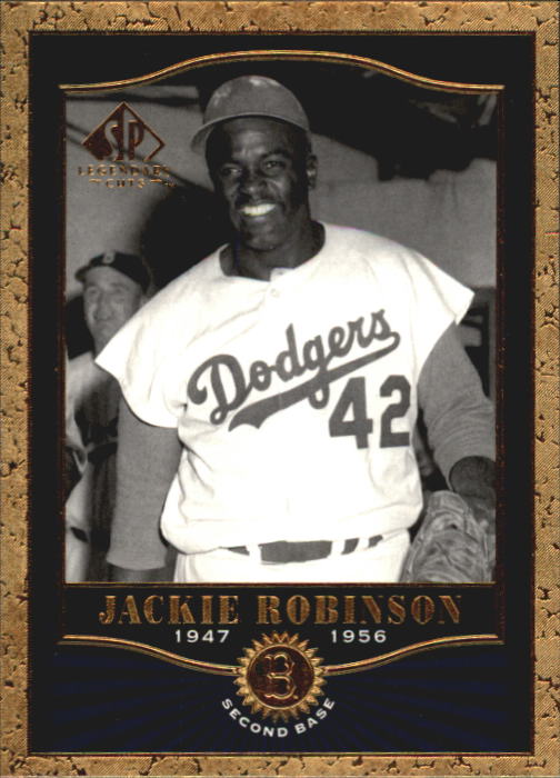 2001 SP Legendary Cuts #29 Jackie Robinson