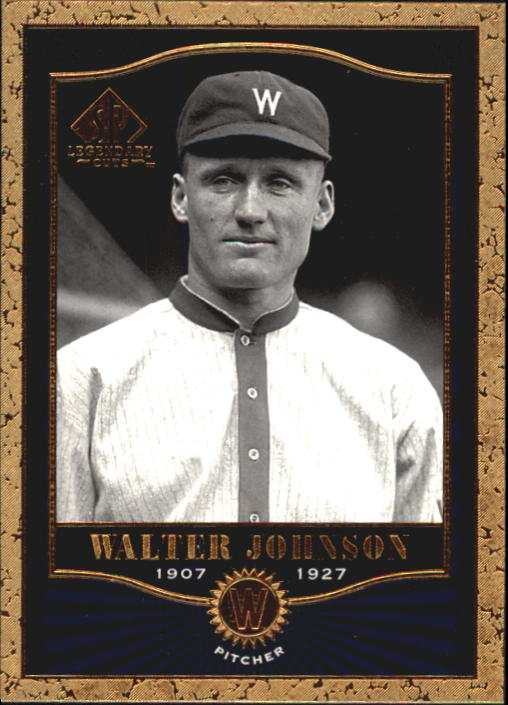 2001 SP Legendary Cuts #69 Walter Johnson front image